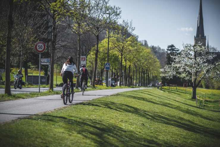 bicicletta verde città