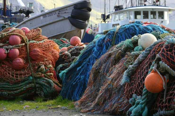 reti da pesca barche